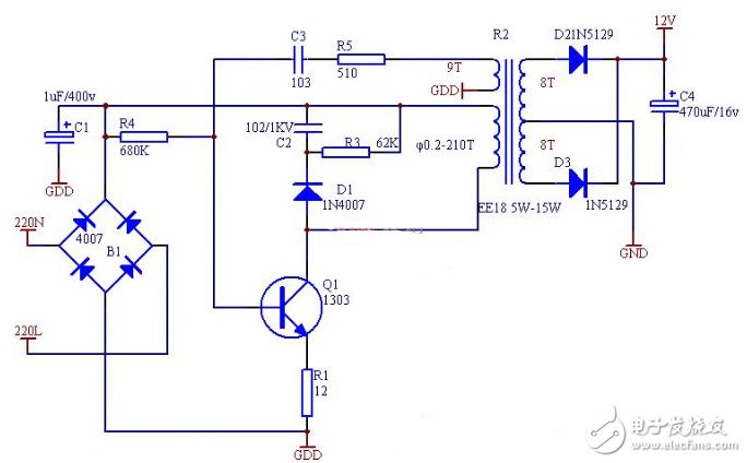 简单的开关电源电路图大全(六款简单的开关电源电路...
