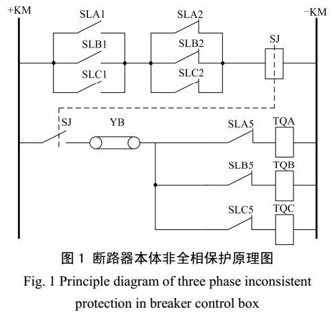基于双位置继电器构成的断路器非全相保护方法