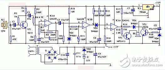 简易人体感应灯电路图大全(六款简易人体感应灯电路设计原理图详解)