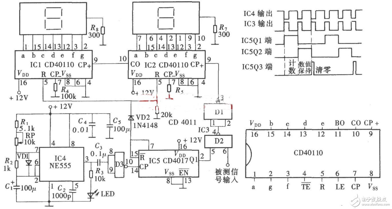 cd40110计数器电路图大全(七款cd40110计数器电路设计原理图详解)