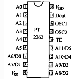 pt2262应用电路图大全_pt2262编码电路...