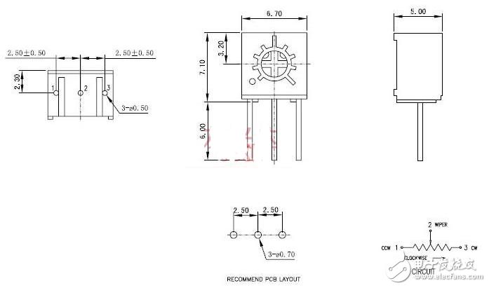 电位器3266和3296区别主要在哪里_3266/3296电位器参数