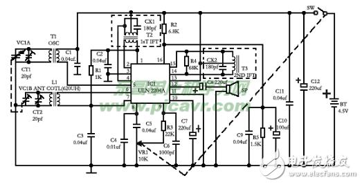 超外差收音机电路图大全(五款超外差收音机电路设计原理图详解)