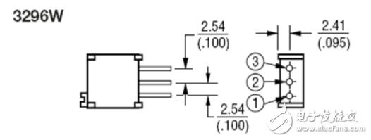 3296w电位器封装尺寸与3296w外壳介绍