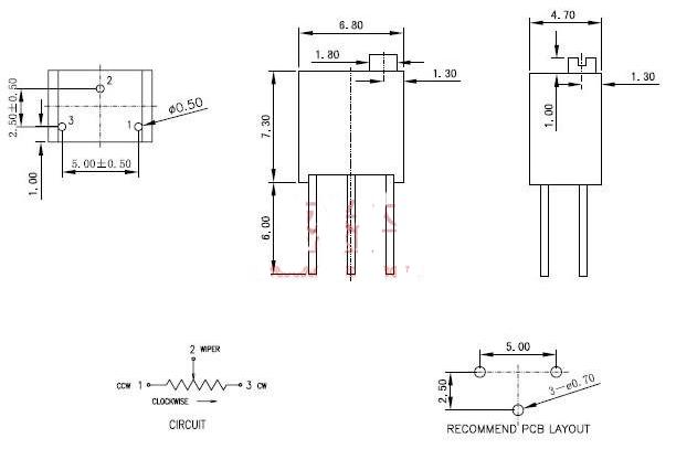 电位器3266和3296区别主要在哪里_3266...