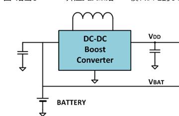 通过一个DC-DC升压变换器,给NFC模块供电方...