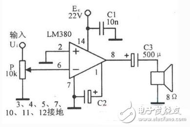 简单音频功放电路原理图 四 简单音频功放电路原理图大全 六款简单音
