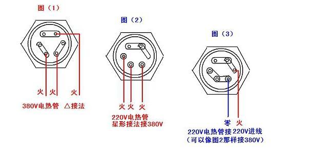 220v电热管怎么连接_220v电热管接线图