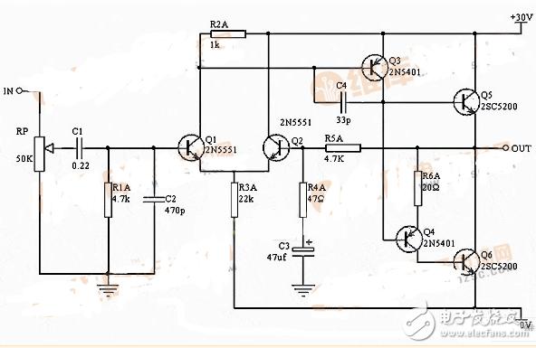 简单音频功放电路原理图大全(六款简单音频功放电路设计原理图详解)