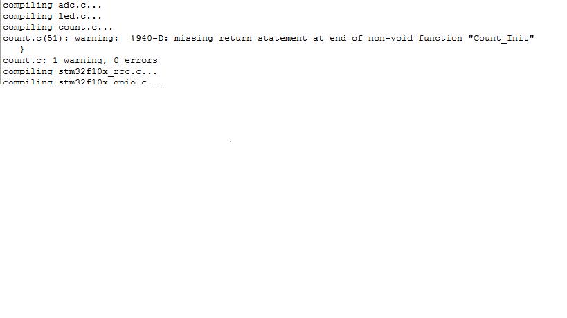 stm32使用中出现的警告