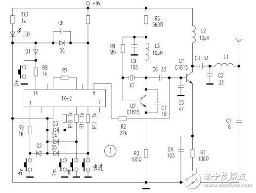无线遥控车电路图大全(四款无线遥控车电路设计原理图详解)