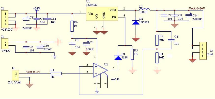 如何通过可调DC-DC改装成可数控的开关稳压电源