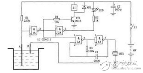 高低水位控制电路图大全(六款高低水位控制电路原理图详解)