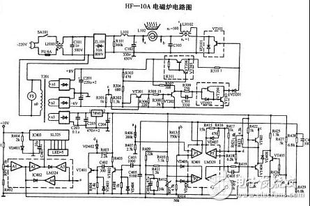 美的电磁炉电路图大全(六款美的电磁炉电路设计原理图详解)