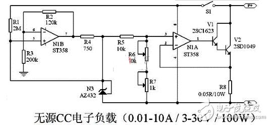 恒流电子负载电路图大全(五款恒流电子负载电路原理图详解)