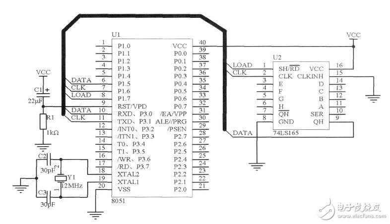 怎么样用单片机的串口驱动74LS165