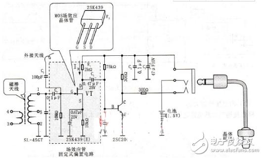 场效应管放大电路图大全(五款场效应晶体管放大电路原理图详解)