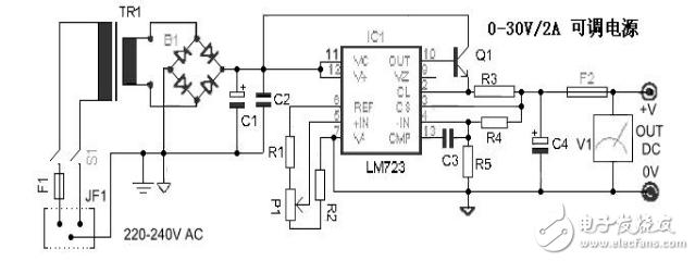 lm723可调电源电路图大全(八款lm723可调电源电路设计原理图详解)