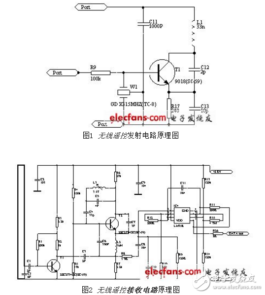433m無線發射電路圖大全(T630無線電/音頻調制/電感三點式發射電路詳解)
