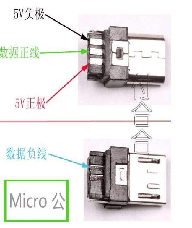 micro usb接口定义图_micro usb接线图