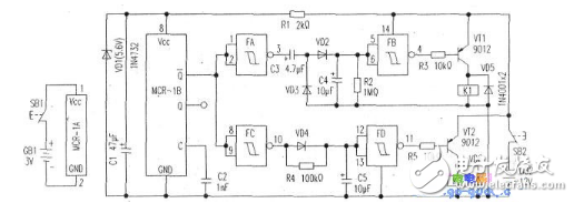 315m無線發射接收電路圖大全(無線發射/無線接收電路圖詳解)