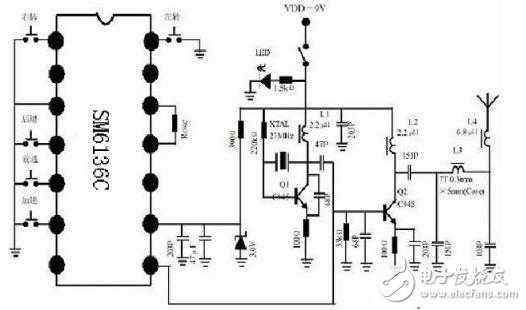 433m无线发射电路图大全(T630无线电/音频调制/电感三点式发射电路详解)