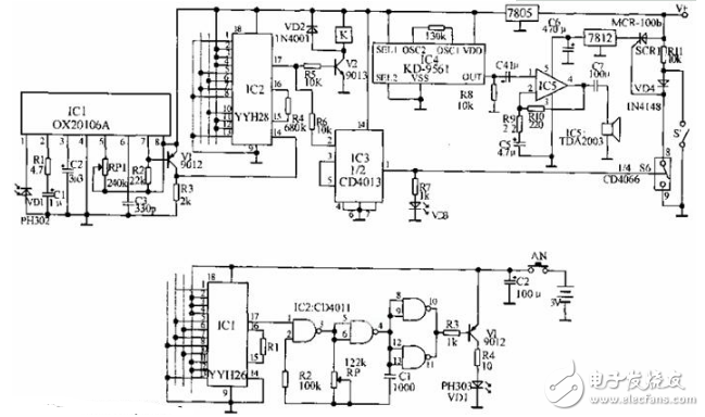 遥控电子密码锁的设计方案汇总(四款电子密码锁设计原理图详解)