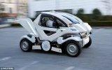 停车位再小也不怕了,这款可变形的折叠式电动汽车太...