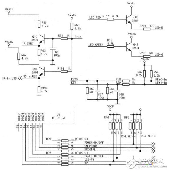 键控电路 - 液晶电视电路图及解说 - 电视机电路图