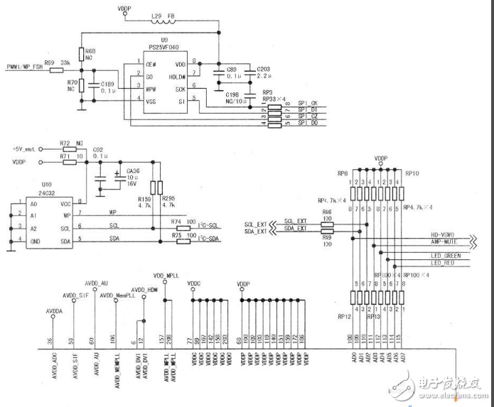 液晶电视电路图及解说