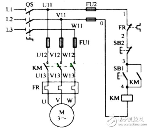 电动机自锁控制电路图大全(三相异步/自锁正转控制...