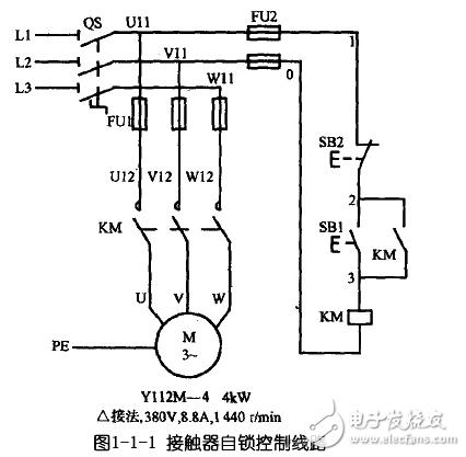 电动机自锁控制电路图大全 三相异步 自锁正转控制电路图详解 全文图片