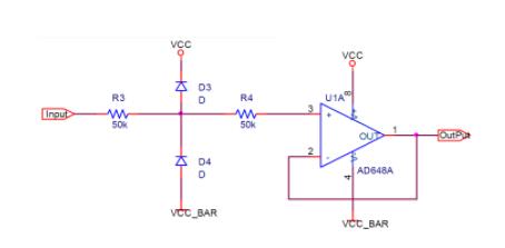 四种模拟输入信号的保护电路的实现方法