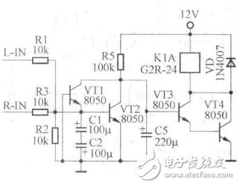 简洁的喇叭保护电路图大全(分离元件/音源输入喇叭保护电路详解)