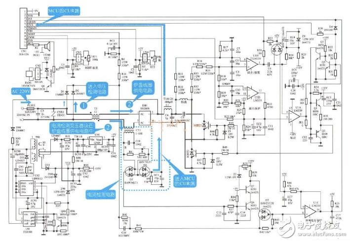 电磁炉电流检测电路图大全(LM358/电流检锅/电流互感器检测电路图详解)