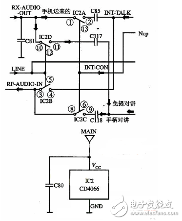 cd4066控制继电器电路图(CMOS集成块/CD40157/触摸开关电路详解)