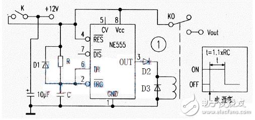 10s可调延时电路图大全 CD4060 NE555时基集成延时电路详解 全文图片