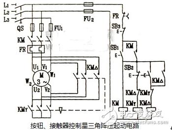 星三角能耗制动电路图大全(电动机/接触器/继电器自动星三角降压启动电路)