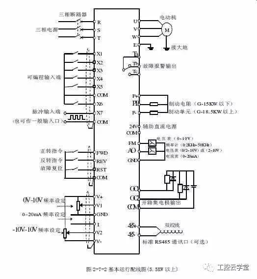 变频器接线图及接线方法