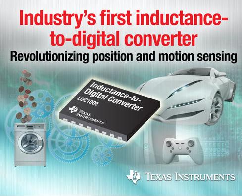 电感数字转换器改变位置及动作传感全新应用方式