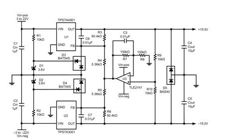 一种通过线性稳压器轻松实施追踪分离电源方法