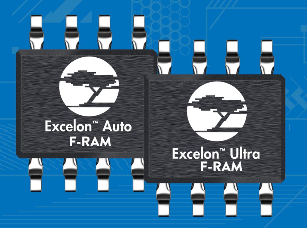 赛普拉斯推出全新Excelon™F-RAM™高速、高可靠性的非易失性存储器系列