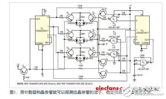 晶体管测试仪电路图大全(CD4022/双极晶体管/NE555时基电路图详解)