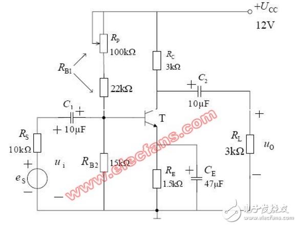 低频电压放大电路图大全(共发射极/分压式偏置/阻容耦合电压放大电路)