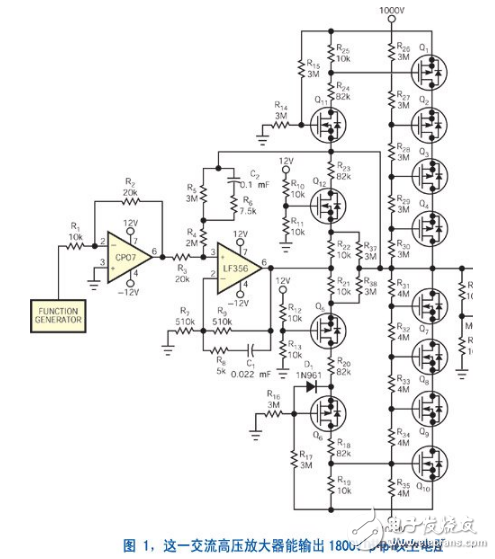 简单电压放大器电路图大全(高压驱动器/共射极/LT1112运算放大器电路详解)