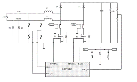 对无桥功率因数校正拓扑结构,检测整流后AC电流很关键