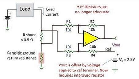 1%电阻器和运算放大器,构建合格差动放大器足够