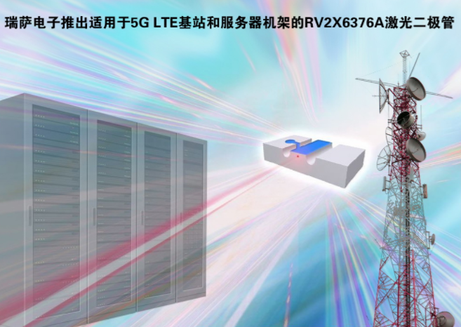瑞萨电子推出业内首款25 Gbps直调激光二极管RV2X6376A系列,支持4.9G和5G LTE基站