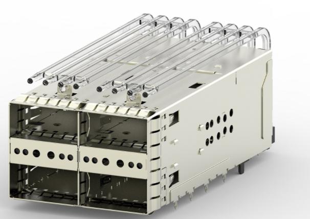 TE Connectivity利用zQSFP+堆叠式Belly to Belly笼降低高密度交换机设计成本
