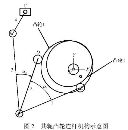 计算机辅助共轭凸轮参数化设计及仿真研究